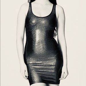 NWT! American Apparel Shiny Tank Pencil Dress, M